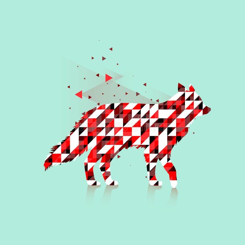Полигональный логотип лисы иллюстрация штока
