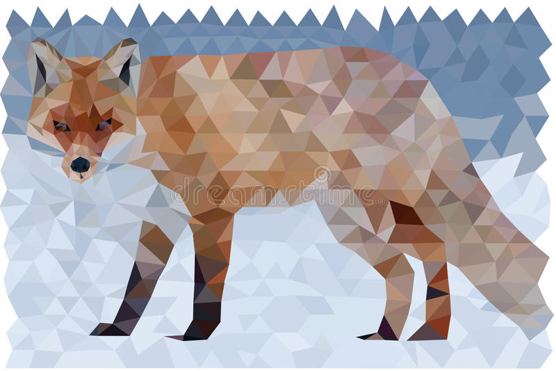 Полигональный Fox стоковое изображение rf