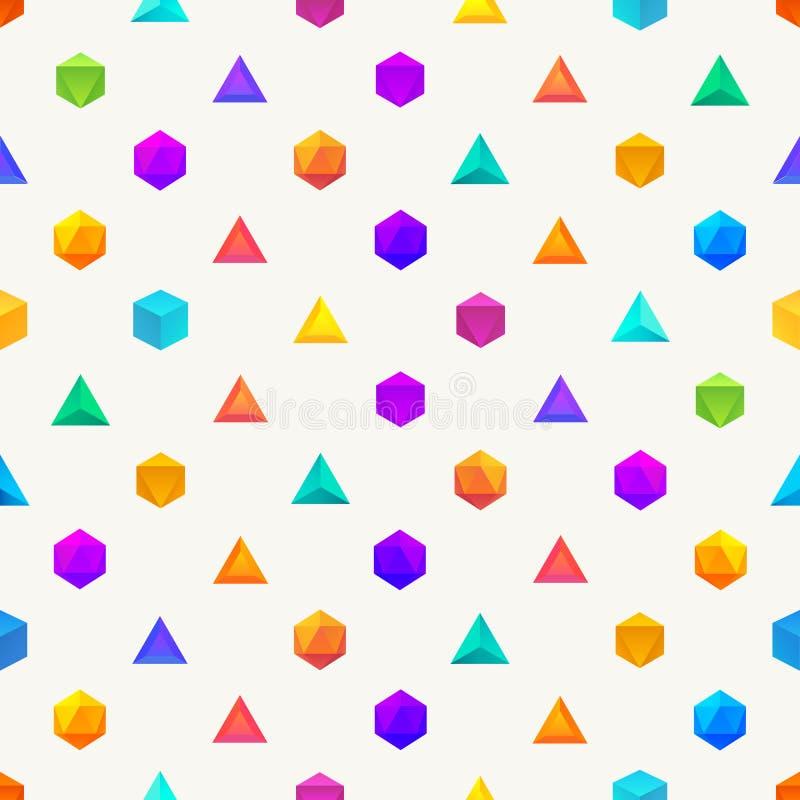 Полигон 3d возражает безшовную геометрическую картину бесплатная иллюстрация