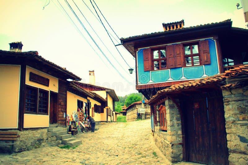 Подлинные болгарские старые дома стоковые изображения rf
