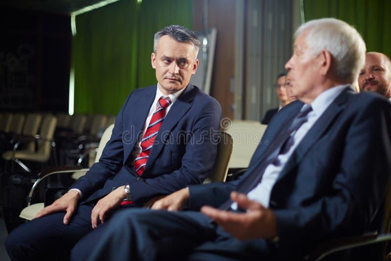 Политики на саммите стоковое фото rf