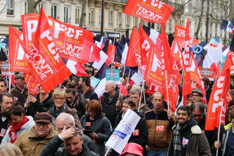 Политическая демонстрация в Франции стоковая фотография