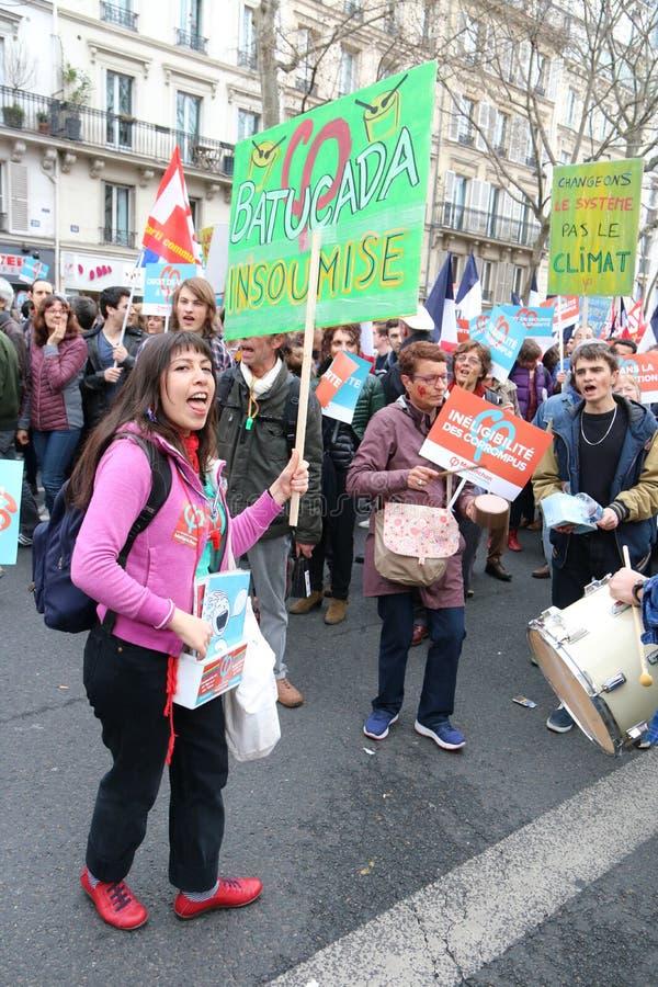 Политическая демонстрация в Франции стоковая фотография rf