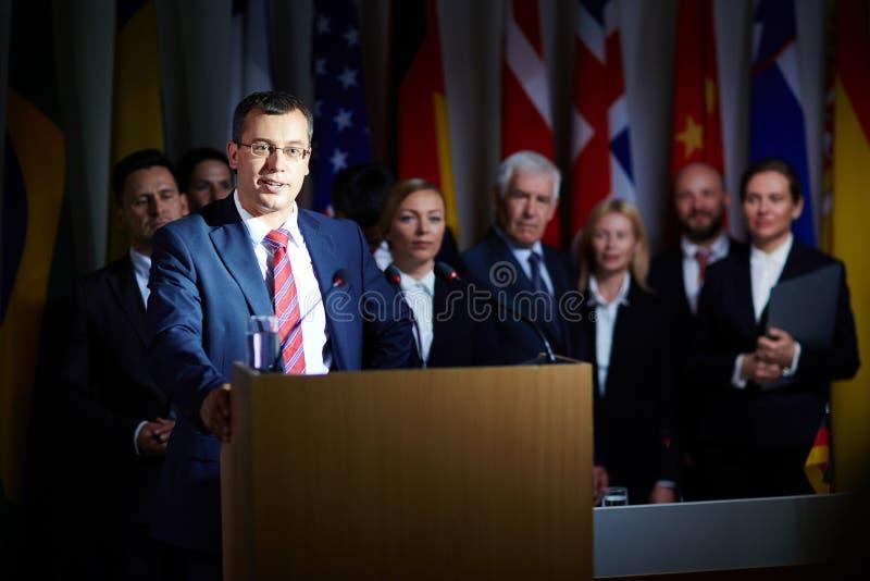 политическая речь стоковое фото