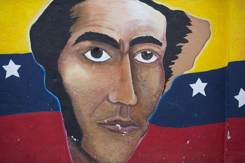Политические граффити в Otavalo, флаге и американском белоголовом орлане стоковая фотография rf