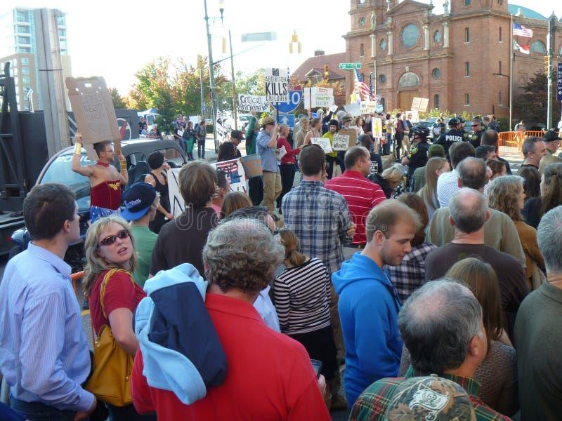 Политический митинг стоковая фотография