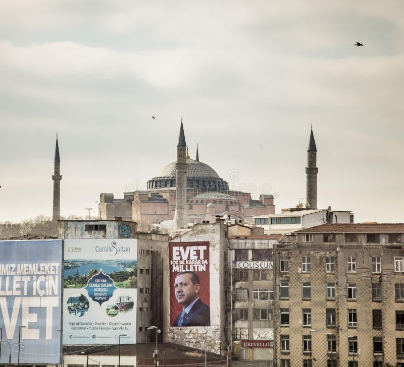 Политический плакат в Турции стоковые изображения