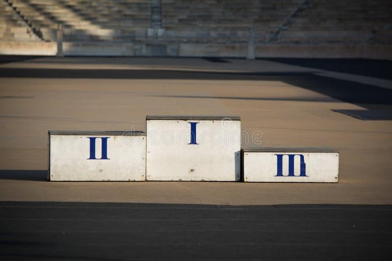 Подиум спортсменов стоковые фото