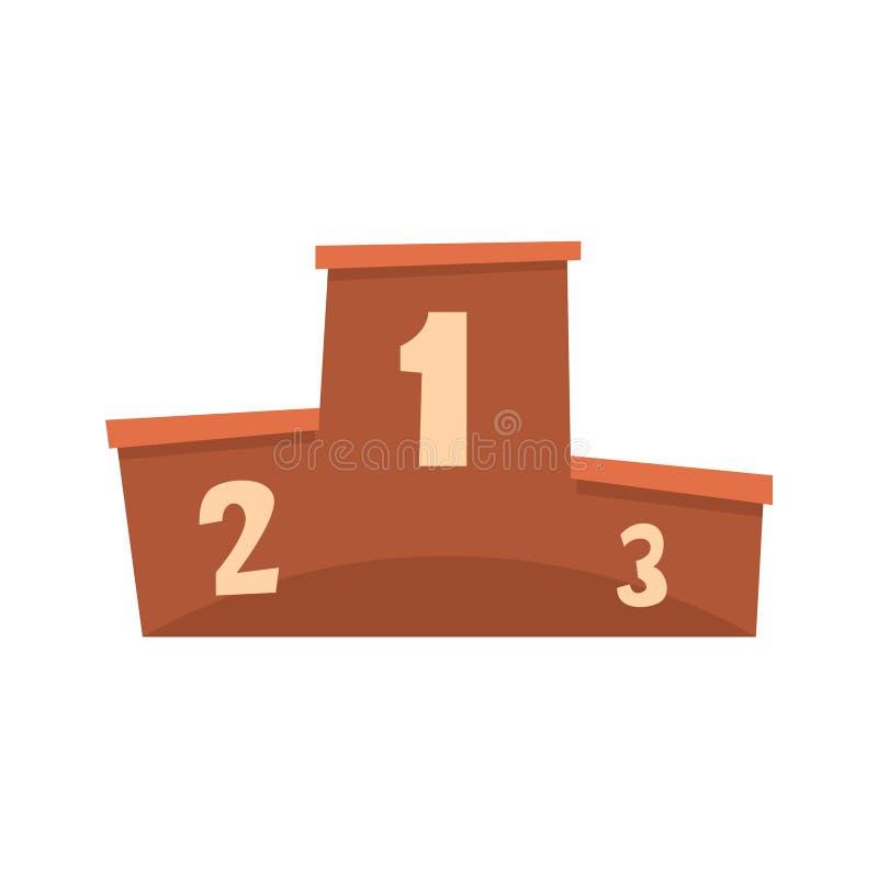 Подиум для церемонии наград иллюстрации вектора шаржа победителей иллюстрация штока
