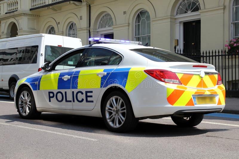 Полицейская машина Лондона (вид сзади) стоковая фотография