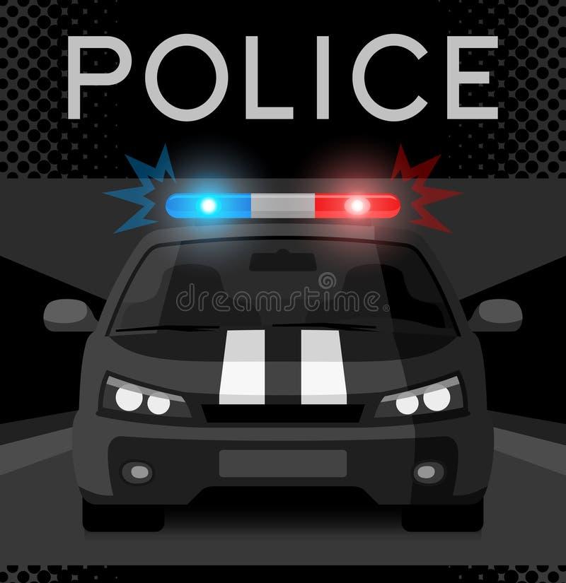 Полицейская машина с проблесковым светом иллюстрация штока