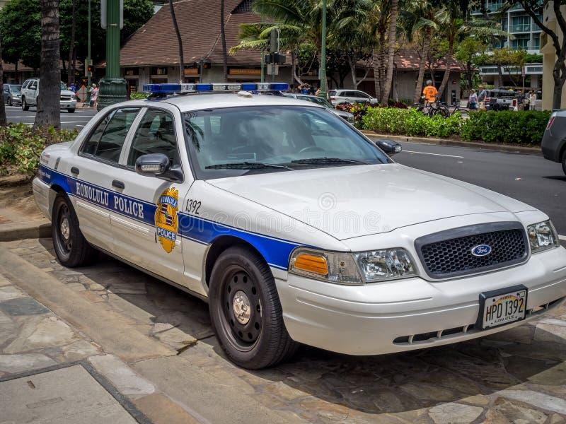 Полицейская машина Управления полиции Гонолулу стоковое изображение rf