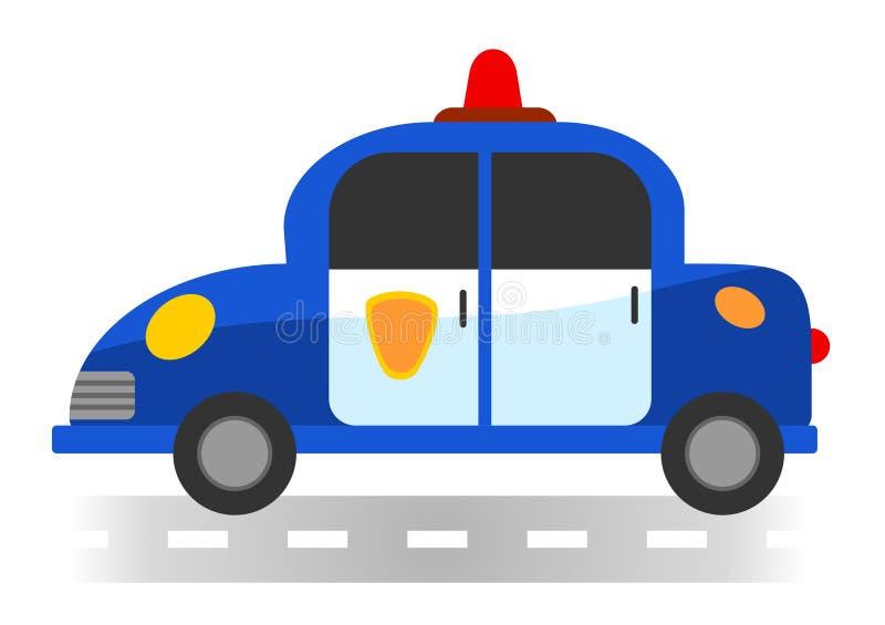 Полицейская машина шаржа на белой предпосылке стоковые фото
