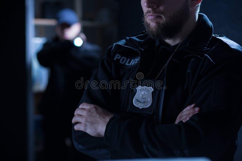 Полицейские на интервенции стоковая фотография
