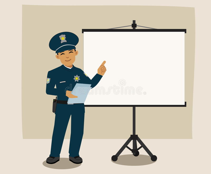 Полицейский давая речь стоковое фото rf