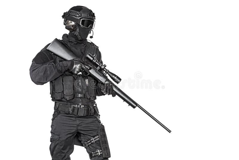 Полицейский СВАТ стоковые фото