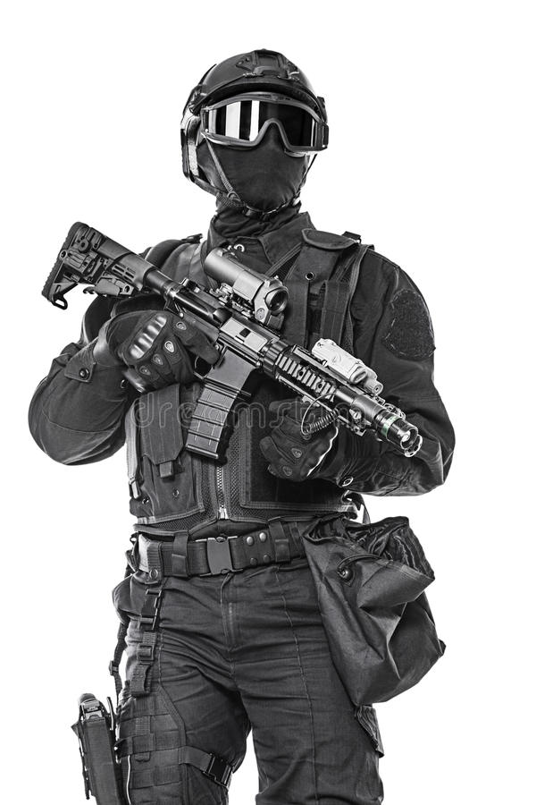 Полицейский СВАТ стоковое фото rf
