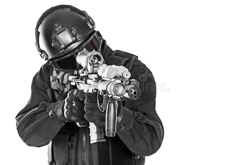 Полицейский СВАТ стоковые изображения rf