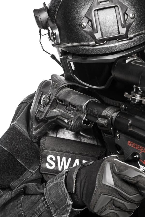 Полицейский СВАТ ops спецификаций стоковое изображение rf