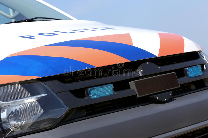 полиции голландеца автомобиля стоковое изображение