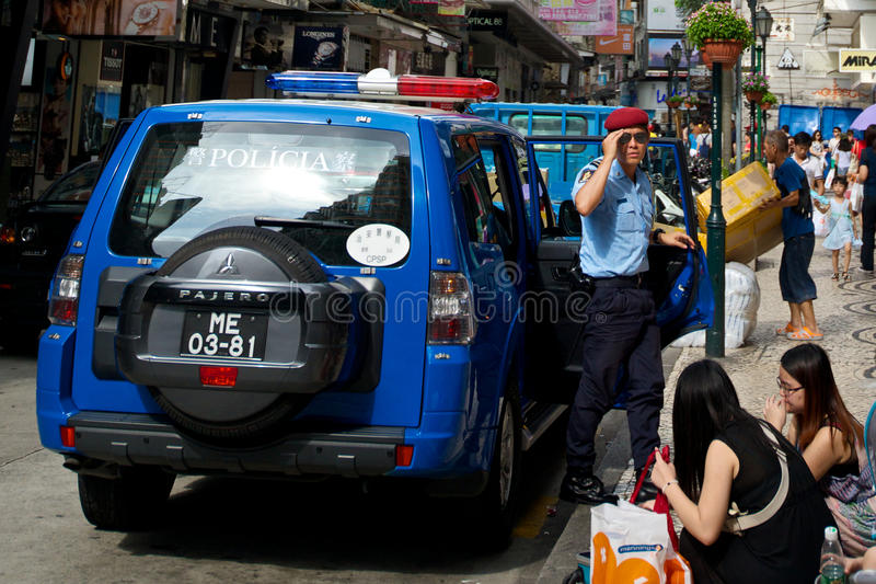 Полиция в Макао стоковое изображение rf