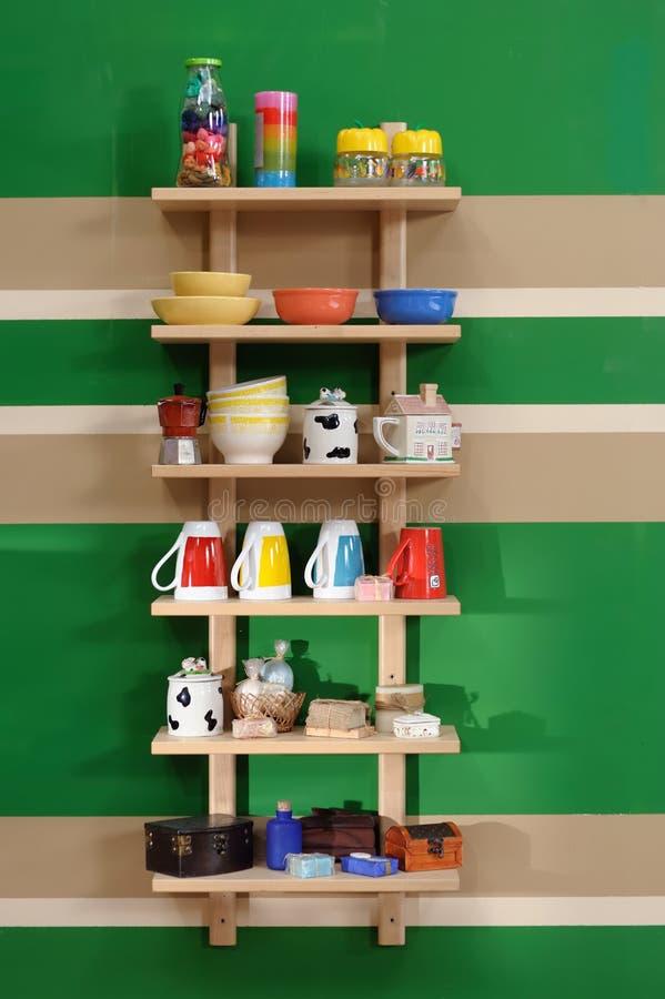 Полка кухни стоковое изображение