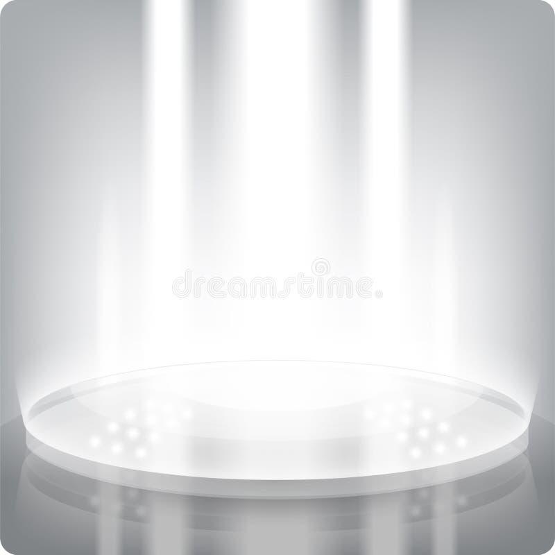 полка пустой выставки eps10 круглая 3d Серый-waite Фасетка искры иллюстрация штока