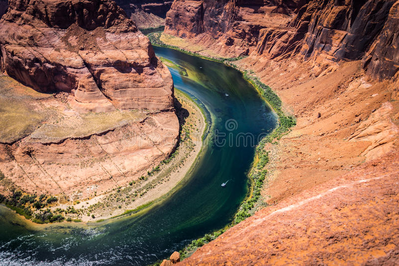 Подкова - загиб Колорадо Гранд-каньон, Аризона, Соединенные Штаты стоковое фото rf
