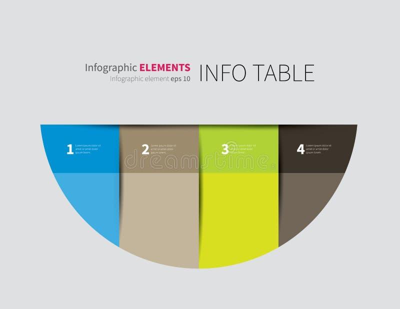 Полкруга Infographics бесплатная иллюстрация