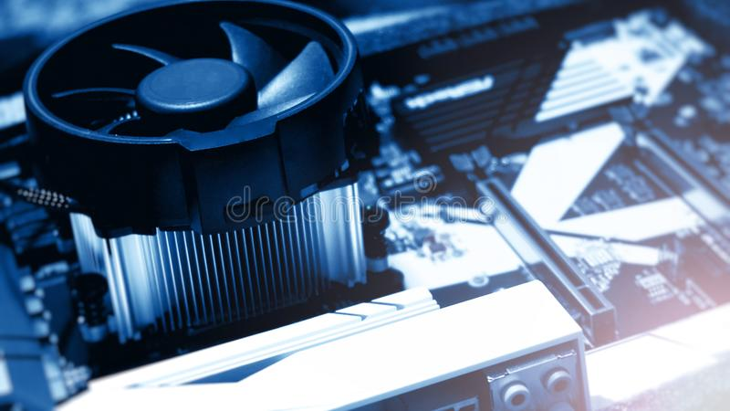 по мере того как доска предпосылки может обойти вокруг пользу Аппаратные технологии электрического счетнорешающего устройства Мат стоковая фотография rf