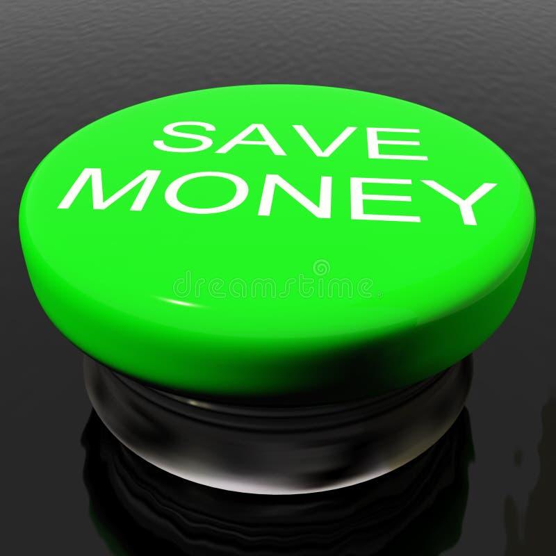 по мере того как кнопка уценивает деньги за исключением символа стоковая фотография rf