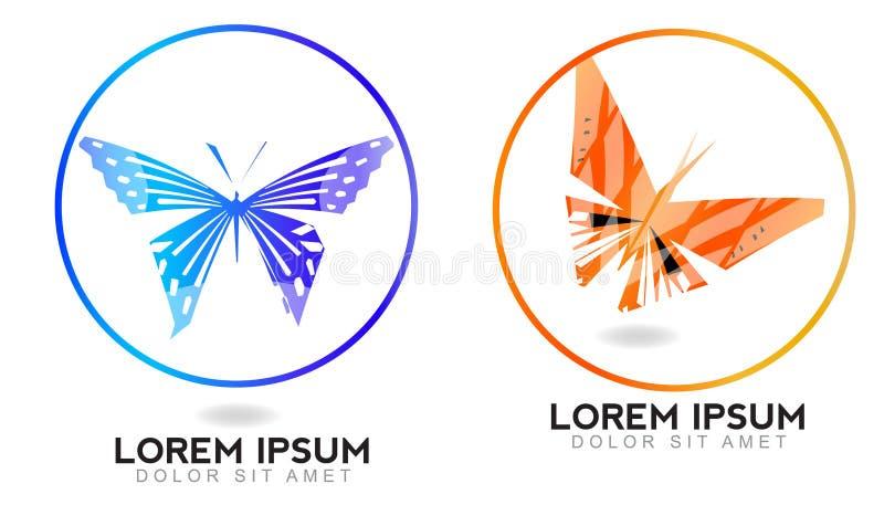 по мере того как предпосылка черна бабочка может режим логотипа логоса элементов конструкции цвета cmyk установить использовано иллюстрация штока