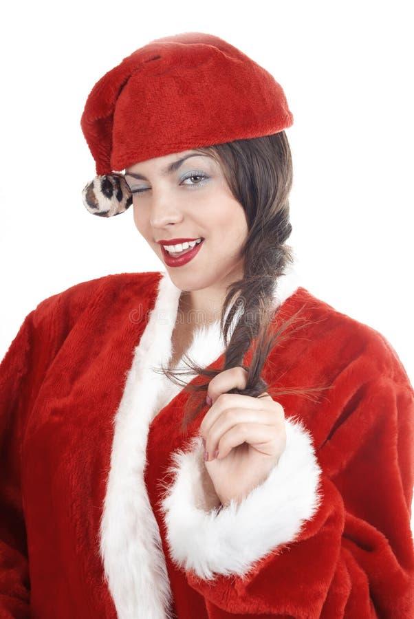 подмигивать santa стоковое фото