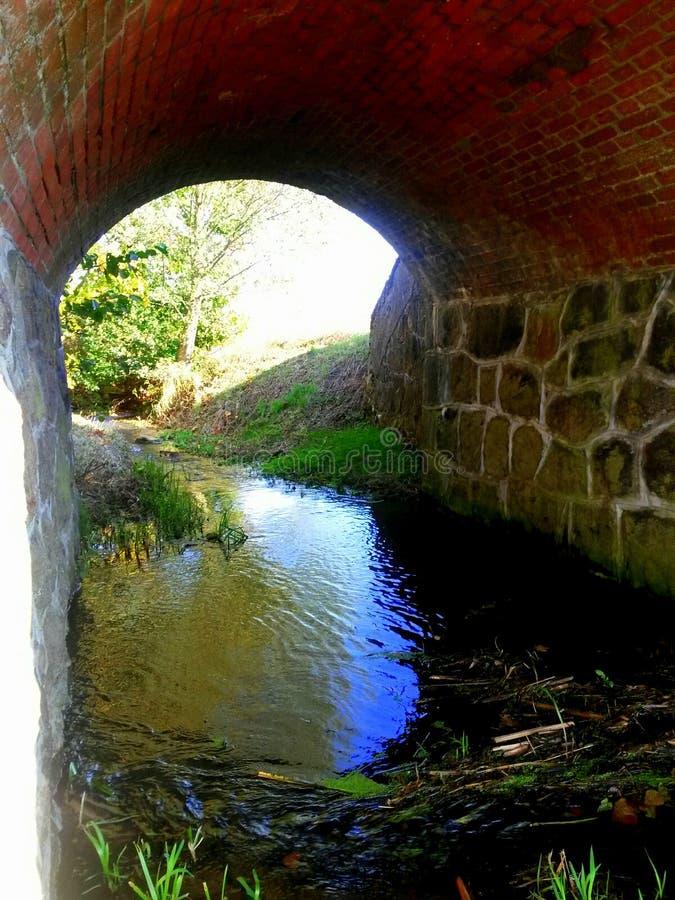 Под мостом стоковая фотография rf