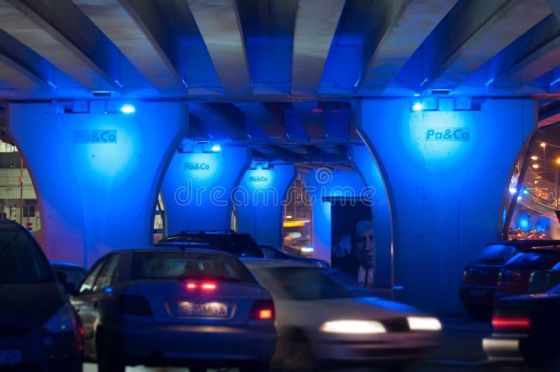 Под мостом pipera к ноча стоковые изображения