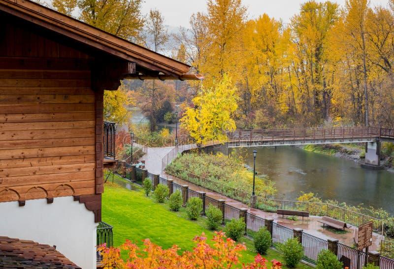 Полная осень в Leavenworth, Вашингтон стоковое фото