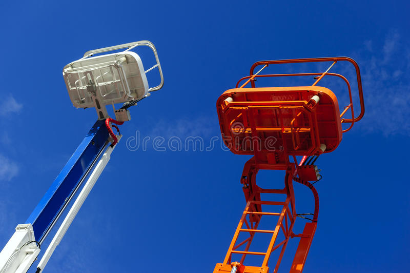Поднимите ведро платформы стоковая фотография rf