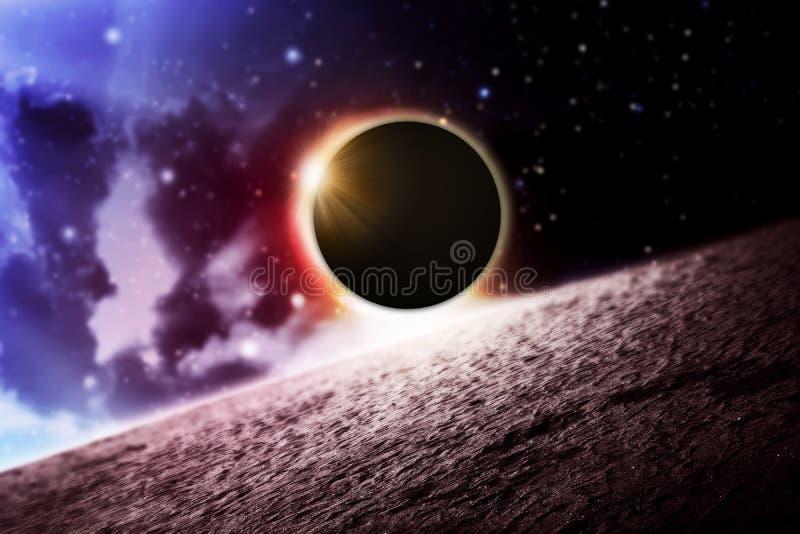 Полное солнечное затмение стоковое фото rf