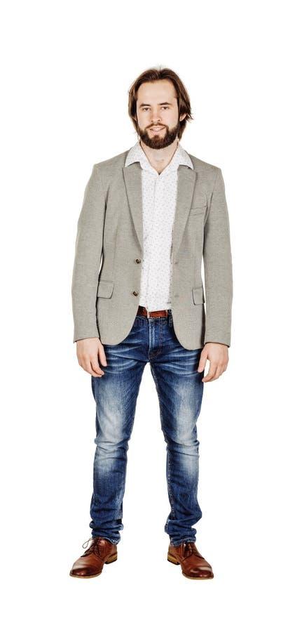 Полнометражный портрет бизнесмена стоковое фото