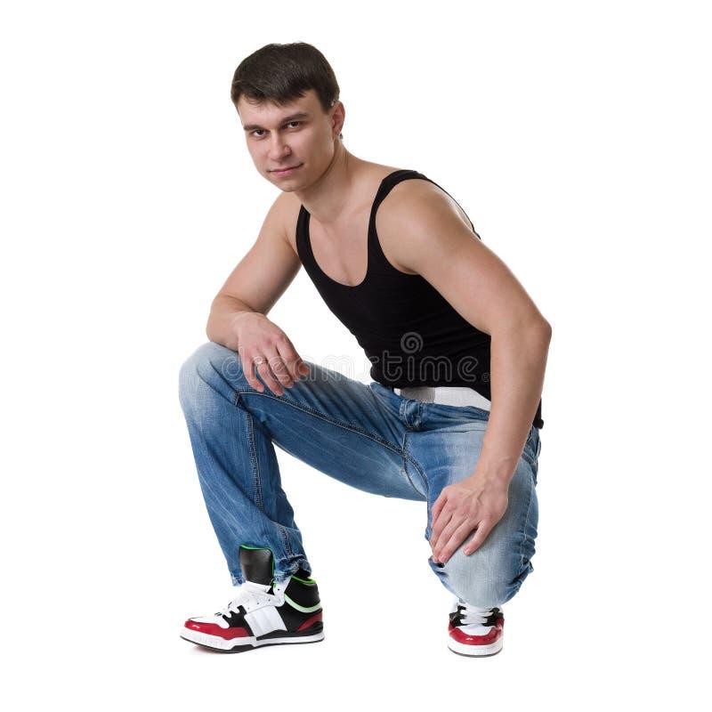 Полнометражный портрет делать спортсмена молодого человека стоковая фотография