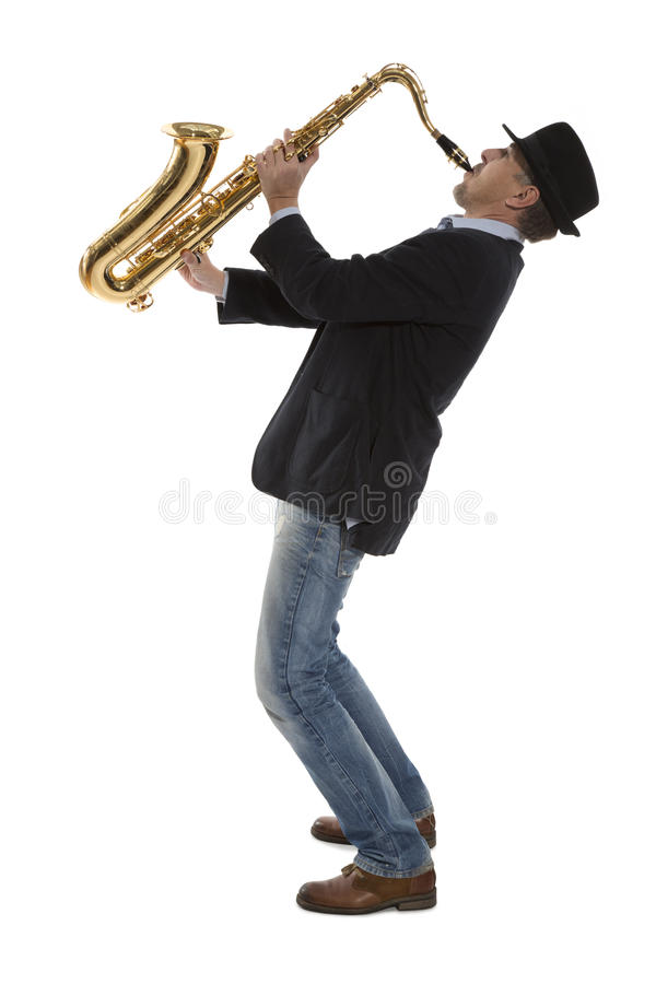 Саксофонист стоковые фотографии rf