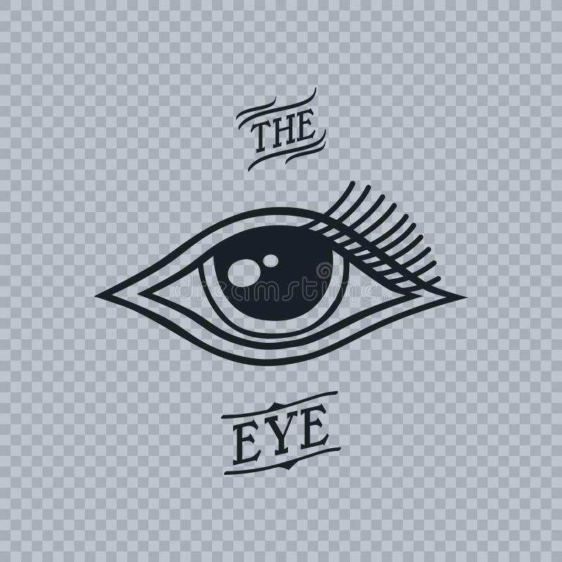 Полностью видя глаз horus иллюстрация штока