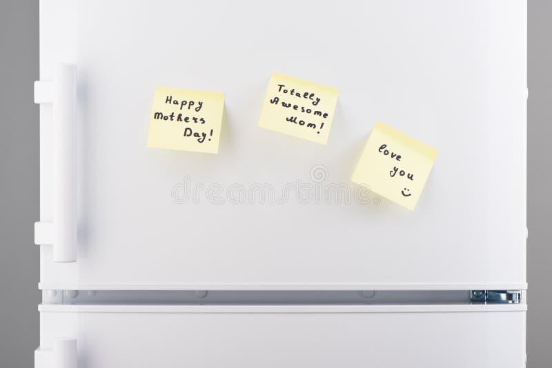 Полностью внушительная мама, счастливый день матерей, любит вас примечания стоковые изображения rf