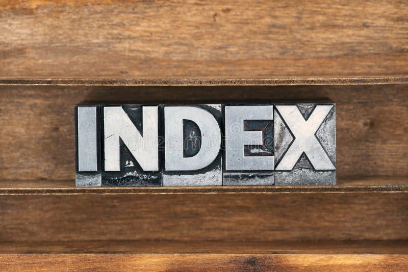 Поднос слова индекса стоковые изображения