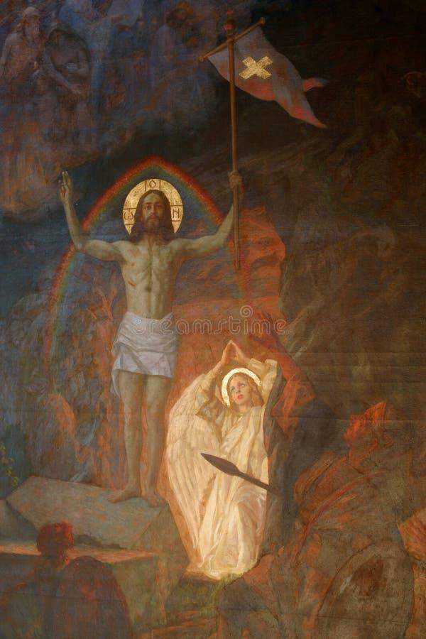 поднятый christ стоковые изображения