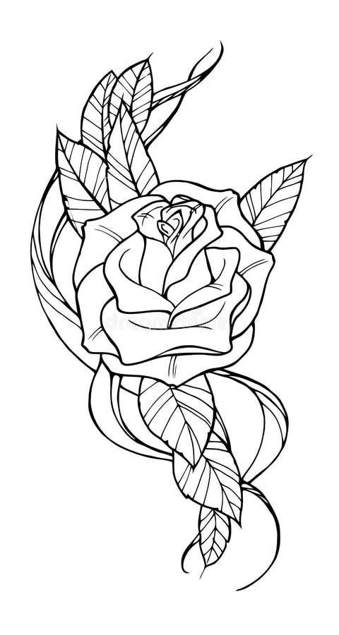 Подняла татуировка иллюстрация вектора