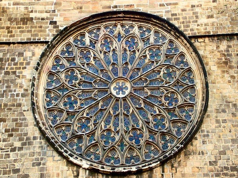 Поднял в базилику Santa Maria del Pi, Барселоны стоковая фотография