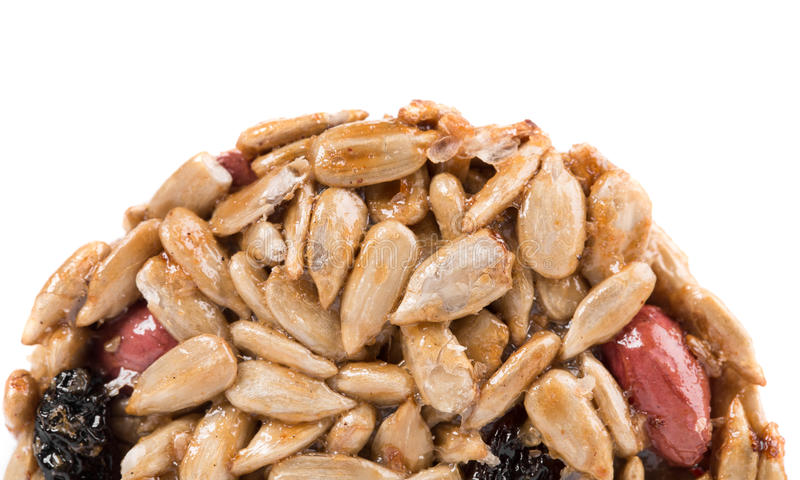 Половина candied семян подсолнуха арахисов стоковые изображения