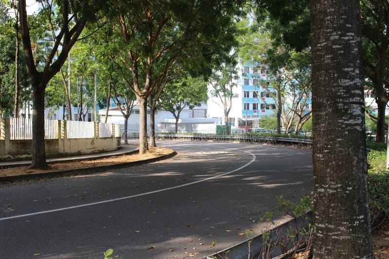 Половинная пустая дорога в Сингапуре стоковая фотография rf