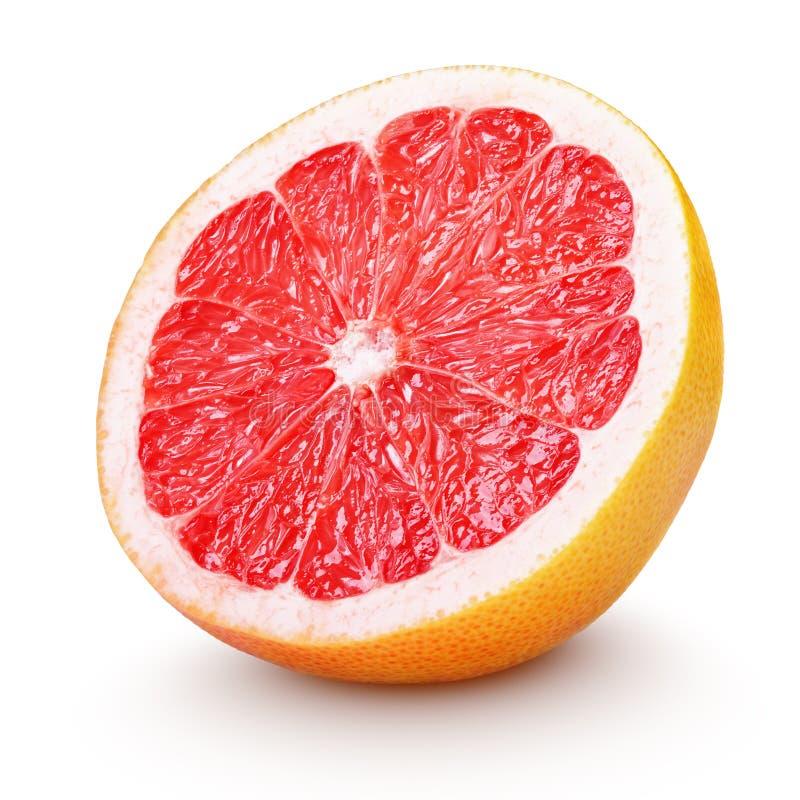 Половинные цитрусовые фрукты грейпфрута изолированные на белизне стоковое изображение